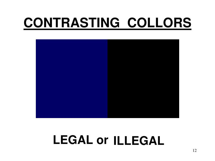 CONTRASTING  COLLORS