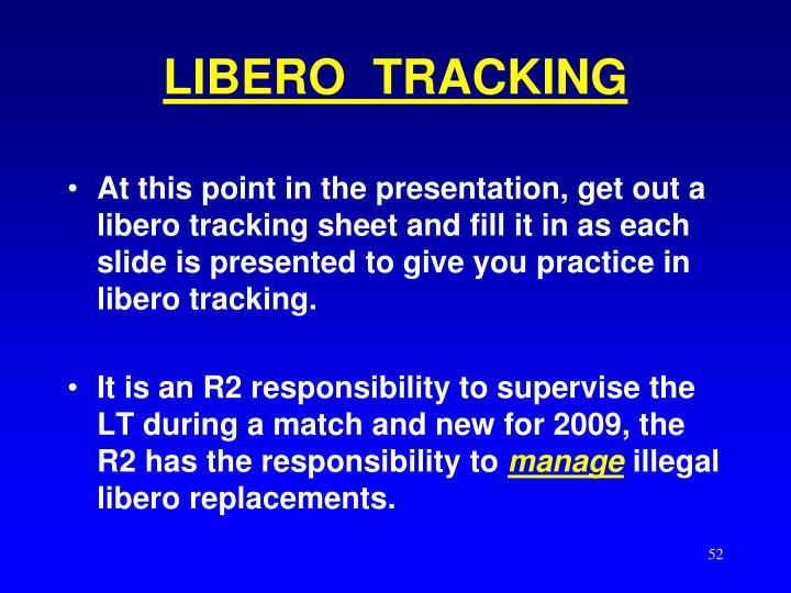 LIBERO  TRACKING