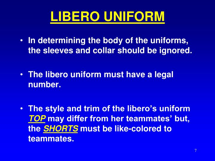LIBERO UNIFORM