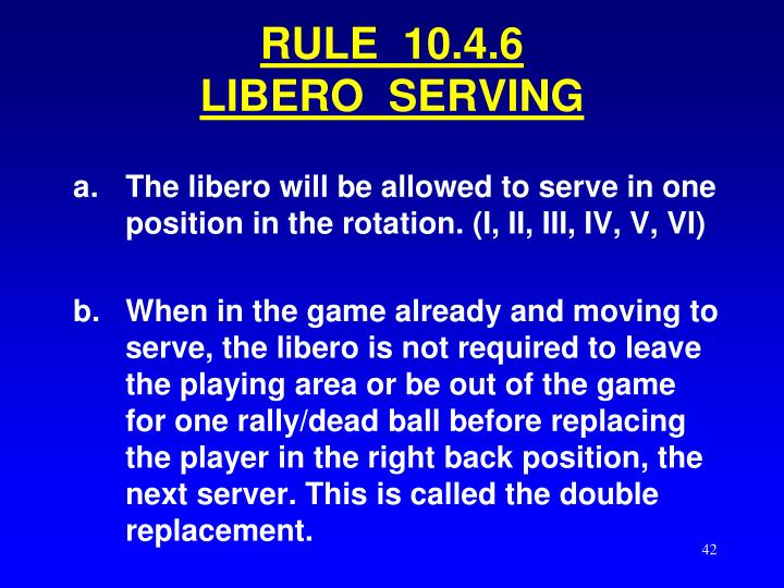 RULE  10.4.6