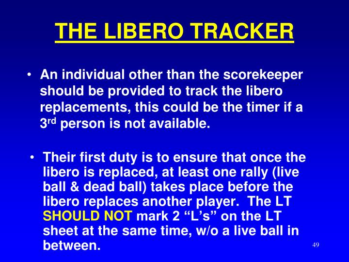 THE LIBERO TRACKER