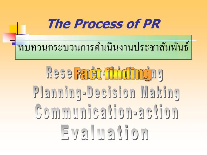 The Process of PR