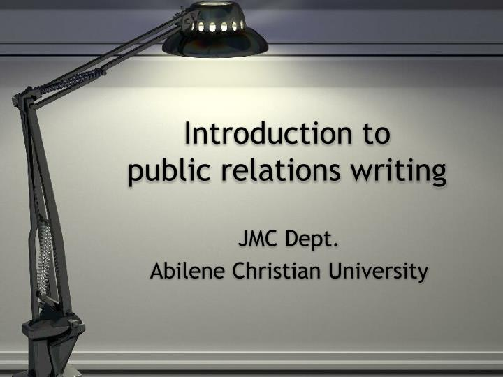 Introduction to public relations writing