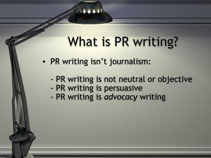 What is PR writing?