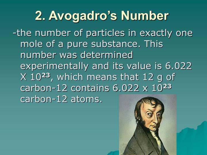 2. Avogadro's Number