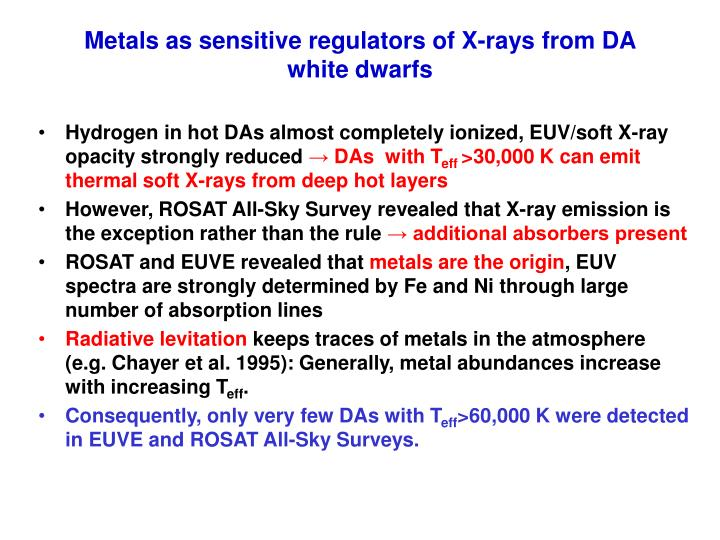 Metals as sensitive regulators of X-rays from DA white dwarfs