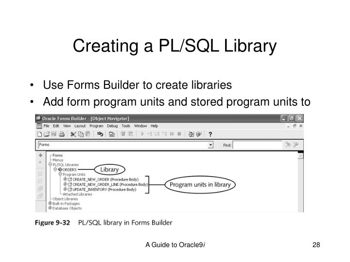 Creating a PL/SQL Library