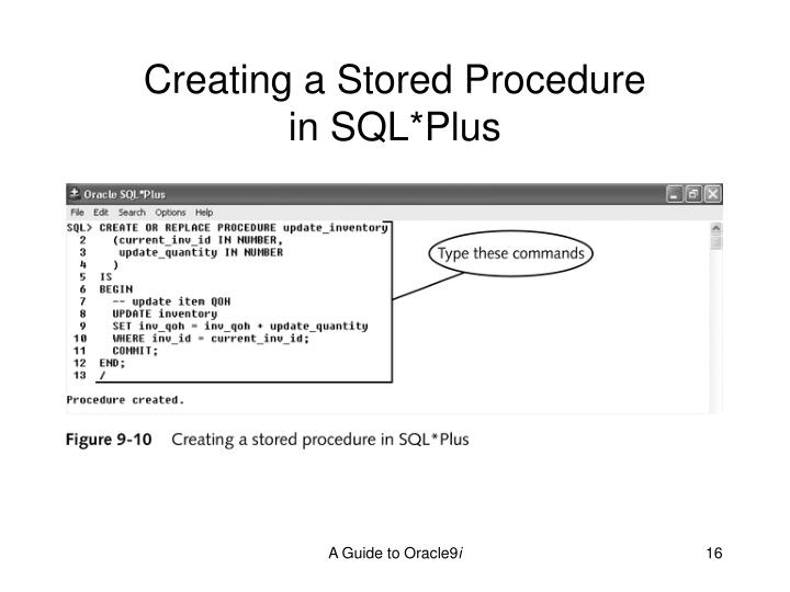 Creating a Stored Procedure