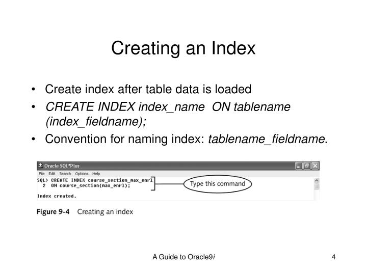 Creating an Index