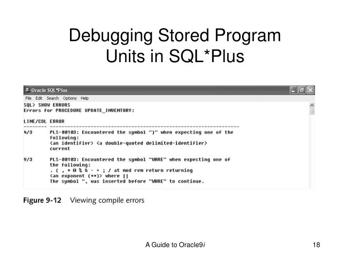 Debugging Stored Program
