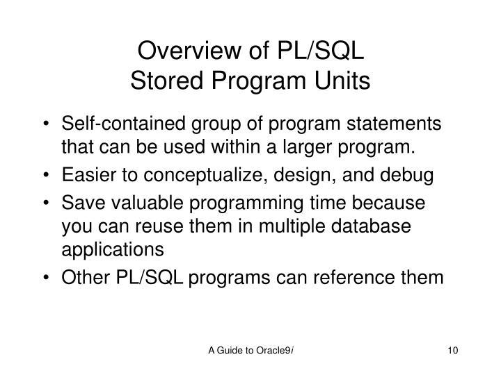 Overview of PL/SQL