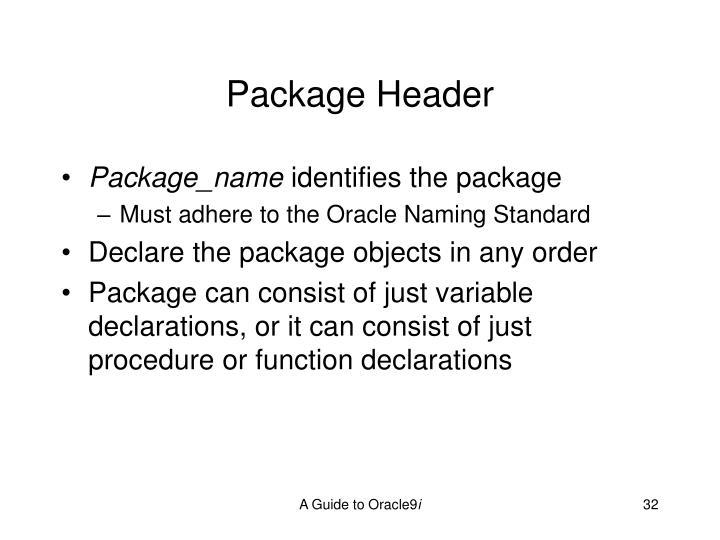 Package Header