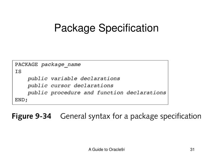 Package Specification