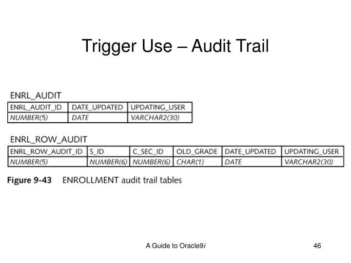 Trigger Use – Audit Trail