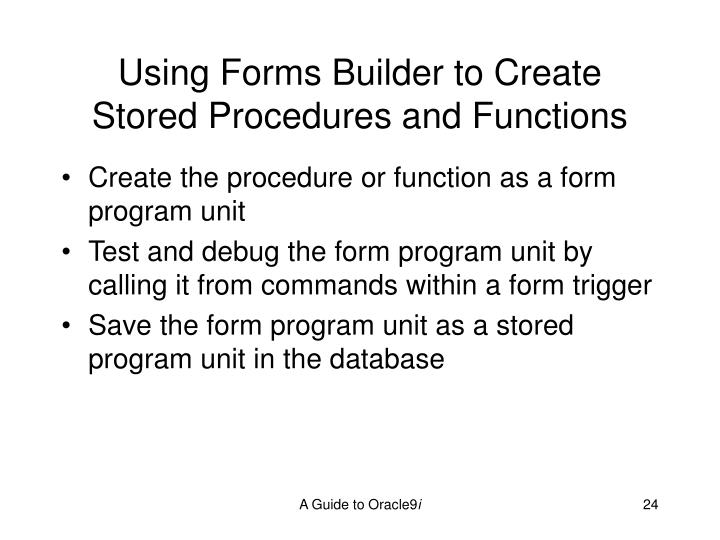 Using Forms Builder to Create