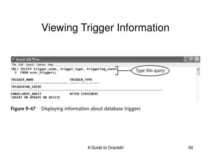 Viewing Trigger Information