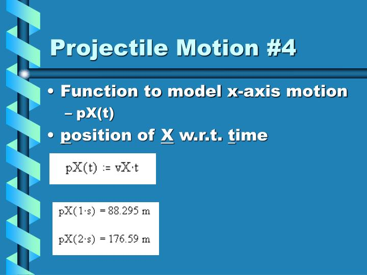 Projectile Motion #4