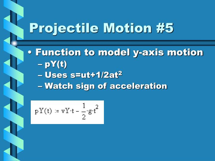 Projectile Motion #5
