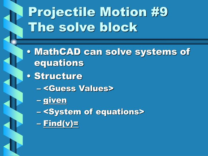 Projectile Motion #9