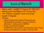 book of baruch