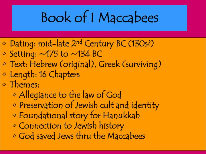 Book of I Maccabees