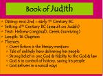 book of judith