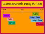 deuterocanonicals dating the texts