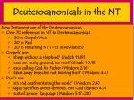 deuterocanonicals in the nt