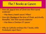 the 7 books as canon