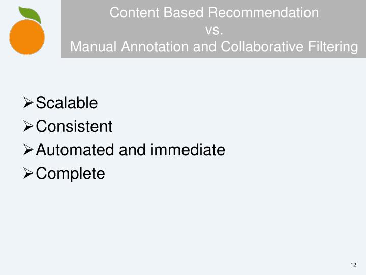 Content Based Recommendation