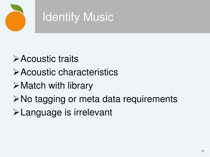Identify Music