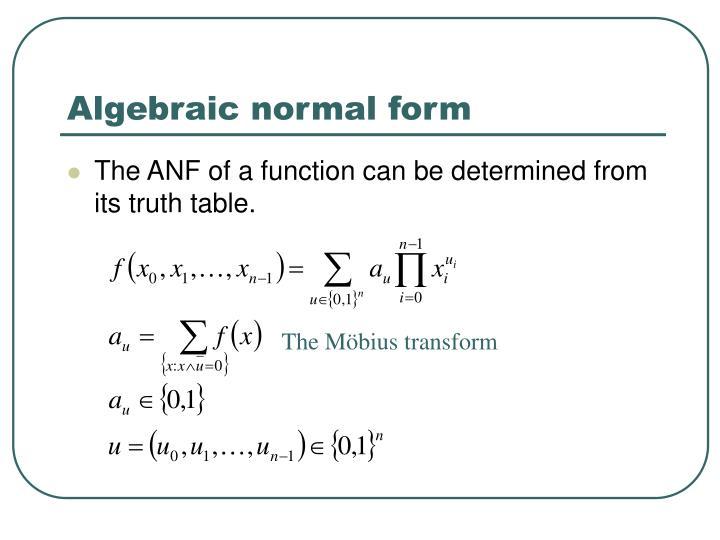 Algebraic normal form