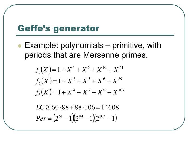 Geffe's generator