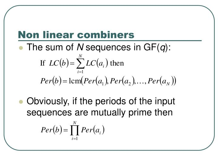 Non linear combiners