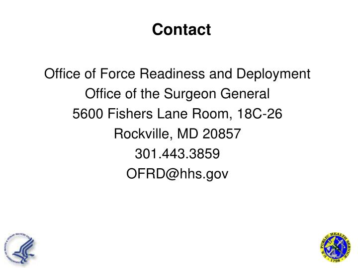Office of Force Readiness and Deployment