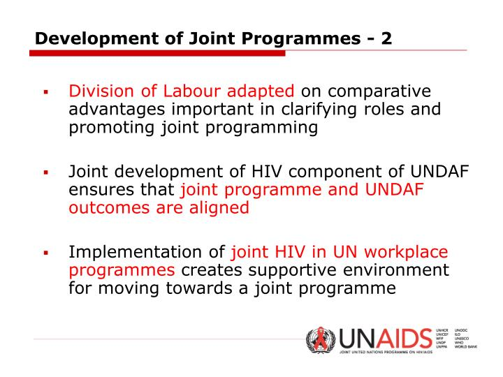 Development of Joint Programmes - 2