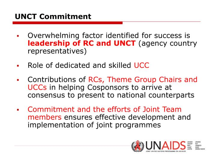 UNCT Commitment