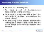 summary of main novelties
