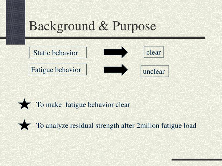 Background purpose