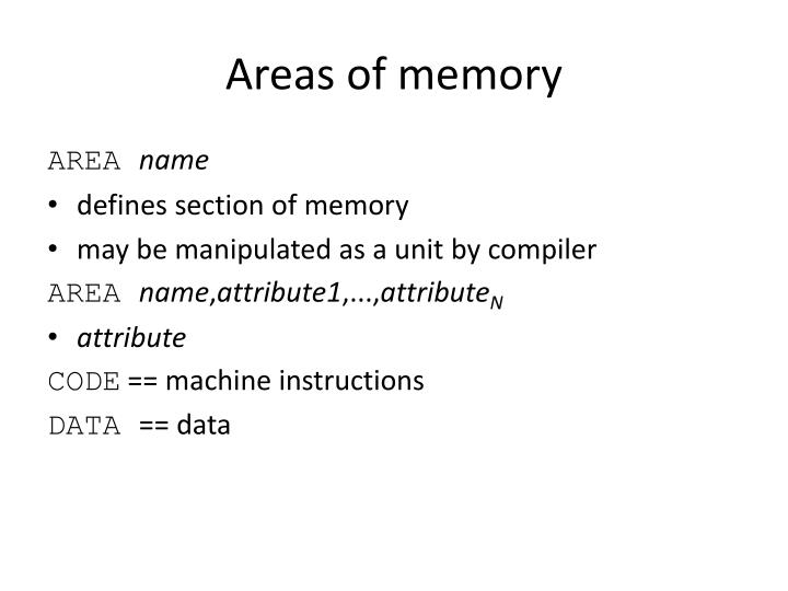 Areas of memory