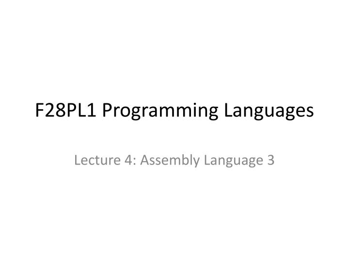 F28pl1 programming languages