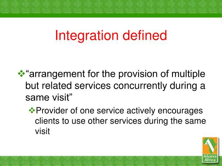 Integration defined