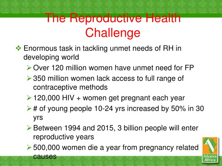 The Reproductive Health Challenge