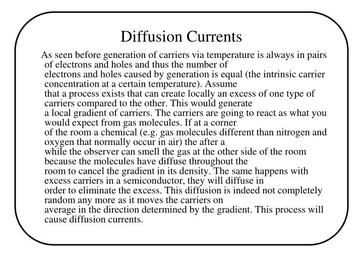 Diffusion Currents
