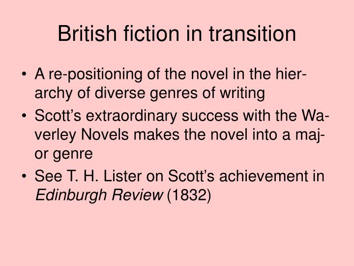 British fiction in transition