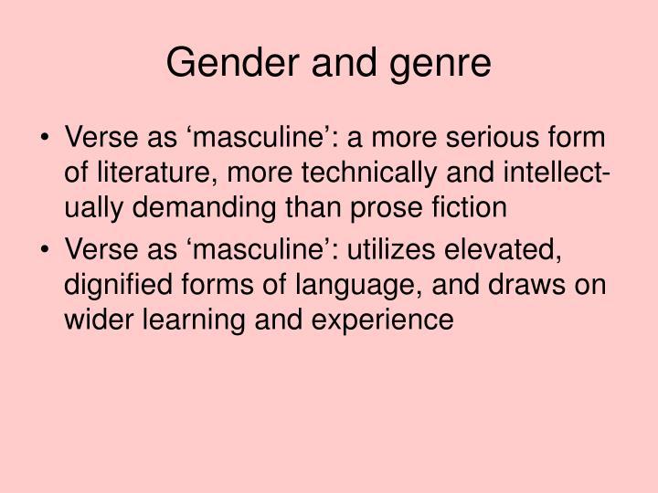 Gender and genre