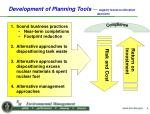 development of planning tools support resource allocation decisions