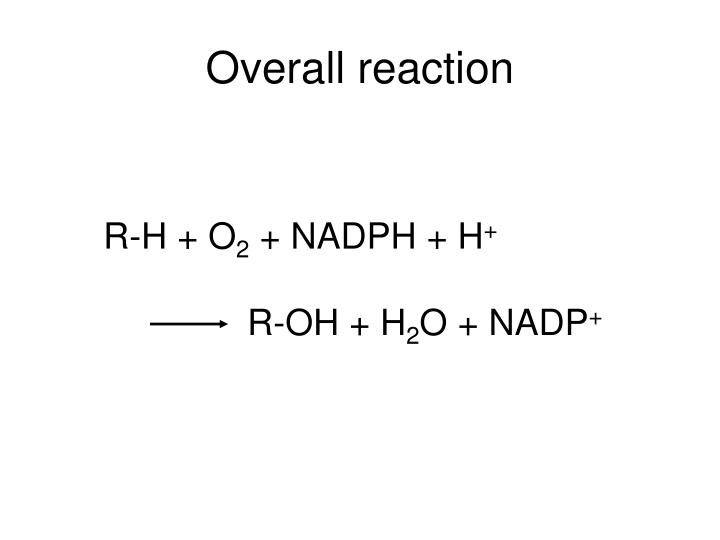 Overall reaction