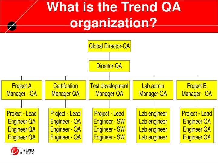 What is the Trend QA organization?