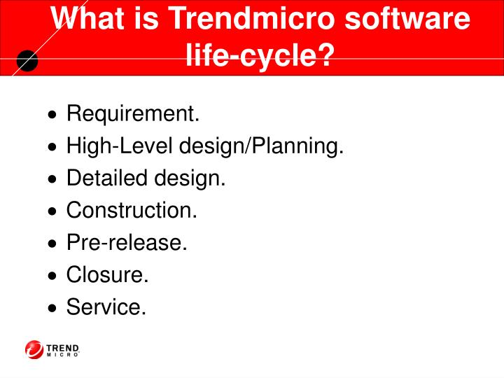 What is Trendmicro software